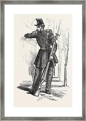 Chasseur De Vincennes Framed Print by English School