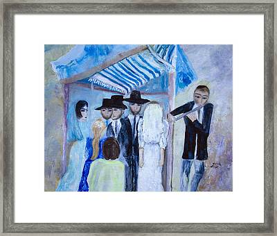 Chassidic Wedding Framed Print