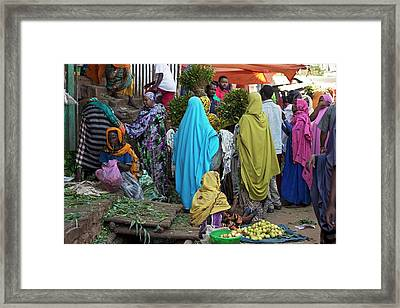Chat Being Sold At A Market Near Harar Framed Print by Tony Camacho