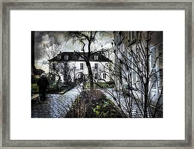 Chat Noir Gallery Paris France Framed Print by Evie Carrier