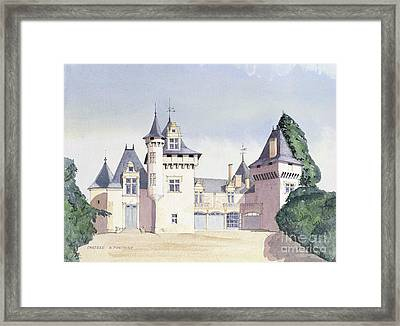 Chateau A Fontaine Framed Print by David Herbert