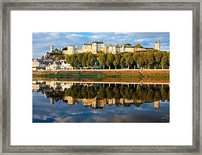 Chateau Above And Below Chinon  Framed Print by Kirk Strickland