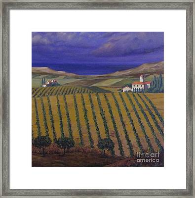 Chateau Before Rain Framed Print