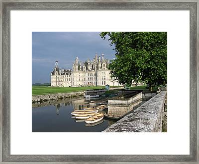 Framed Print featuring the photograph Chateau Chambord Boating by HEVi FineArt