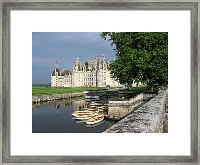 Chateau Chambord Boating Framed Print