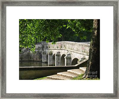 Framed Print featuring the photograph Chateau Chambord Bridge by HEVi FineArt