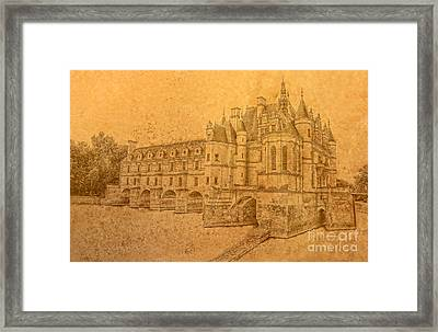Framed Print featuring the photograph Chateau De Chenonceau by Nigel Fletcher-Jones