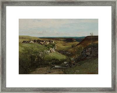 Chateau Dornans Framed Print by Gustave Courbet
