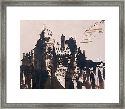 Chateau Fortified By Two Bridges Framed Print by Victor Hugo