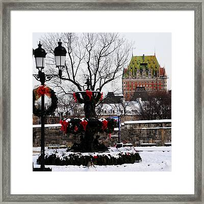Chateau Frontenac - Holiday Framed Print by Jacqueline M Lewis