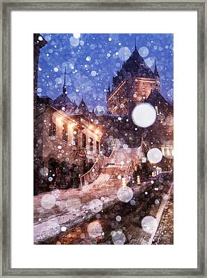 Framed Print featuring the photograph Chateau Frontenac by Arkady Kunysz