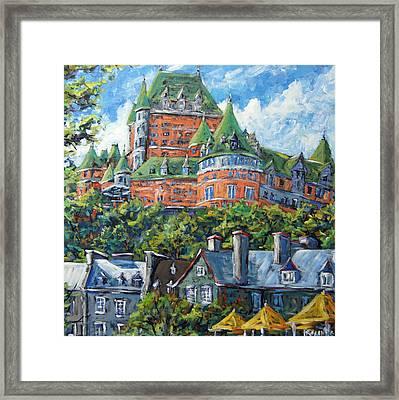 Chateau Frontenac By Prankearts Framed Print by Richard T Pranke