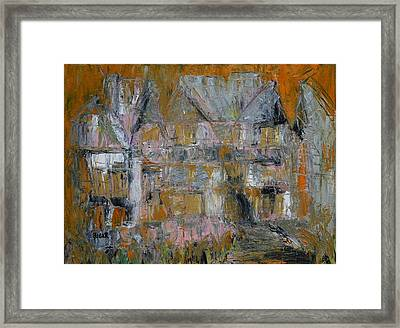 Chateau I Framed Print by Oscar Penalber