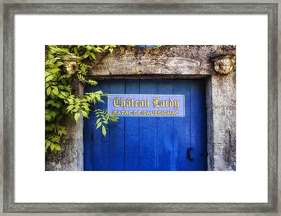 Chateau Lardy Framed Print by Georgia Fowler