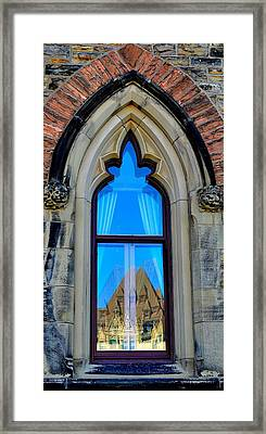 Chateau Laurier - Parlaiment Window - Reflection # 6 Framed Print
