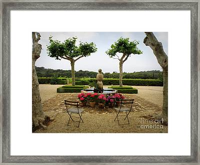Chateau Malherbe Fountain Framed Print by Lainie Wrightson