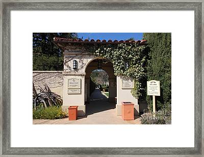 Chateau St. Jean Winery 5d22197 Framed Print by Wingsdomain Art and Photography