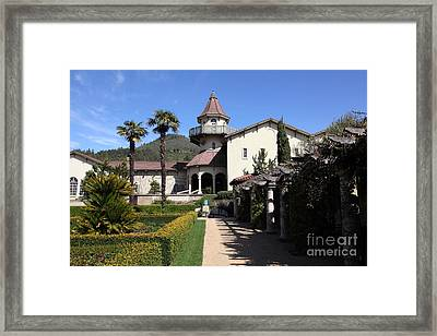 Chateau St. Jean Winery 5d22199 Framed Print by Wingsdomain Art and Photography