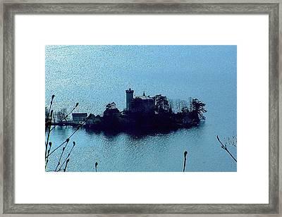 Chateau Sur Lac Framed Print