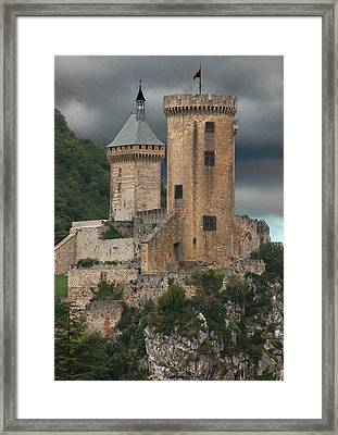 Chateau Tower Colour Framed Print by John Topman