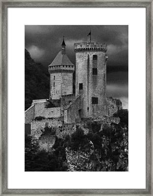 Chateau Tower Monochrome Framed Print by John Topman
