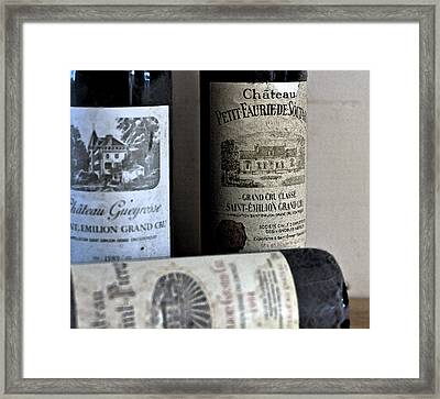 Chateau Wines Framed Print by Georgia Fowler