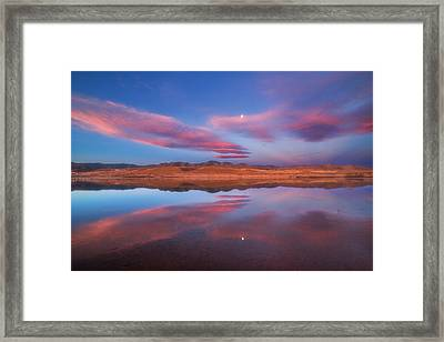 Chatfield Moon Framed Print by Darren  White