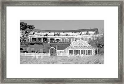 Chatham Bars Inn B And W Framed Print