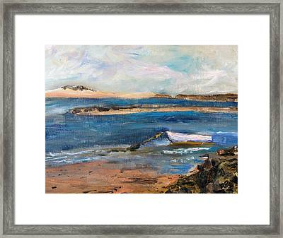 Chatham Boat In The Cove Framed Print