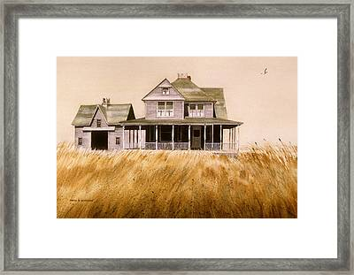 Framed Print featuring the painting Chatham Derelict by Karol Wyckoff