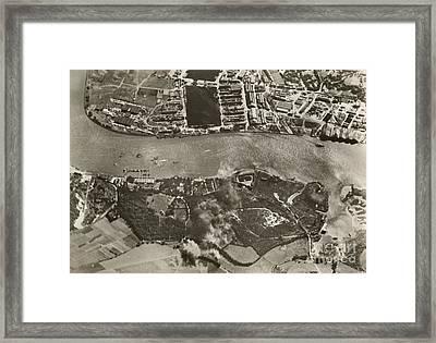Chatham Dockyards Air Raid, World War II Framed Print