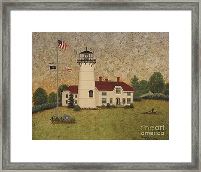 Chatham Light Framed Print by Becky Humbarger