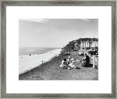 Chatham Lighthouse Beach Framed Print by Underwood Archives