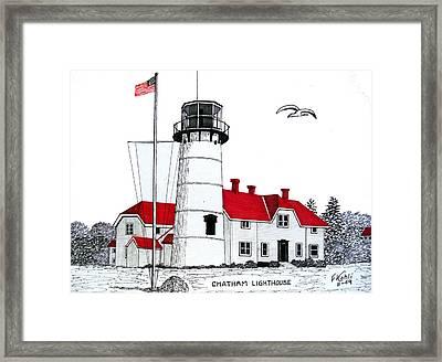 Chatham Lighthouse Drawing Framed Print by Frederic Kohli