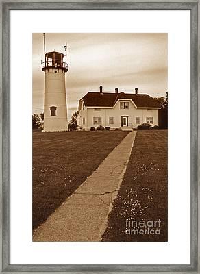 Chatham Lighthouse Framed Print by Skip Willits