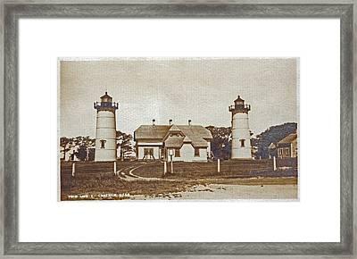 Chatham Twin Lights 1908-18 Framed Print