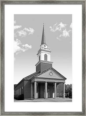 Chatham University Campbell Memorial Chapel Framed Print by University Icons