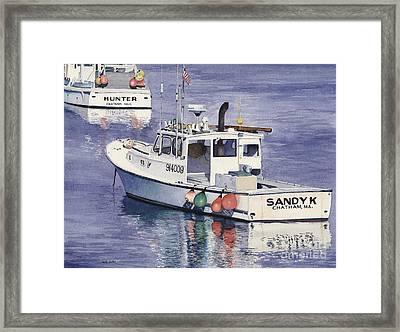 Chatham Work Boats Framed Print by Heidi Gallo