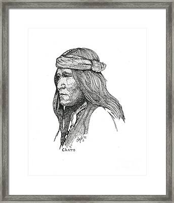 Chato Framed Print by Clayton Cannaday