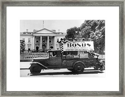 Chattanooga Bonus Marchers Framed Print by Underwood Archives
