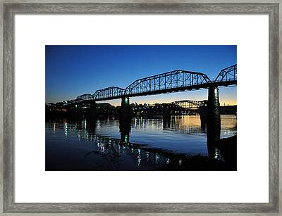 Tennessee River Bridges Chattanooga Framed Print