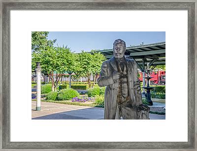 Framed Print featuring the photograph Chattanooga Choo Choo Court Yard by Susan  McMenamin