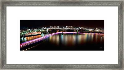 Chattanooga Holiday Boat Parade Framed Print by Steven Llorca
