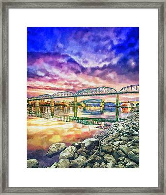 Chattanooga Reflection 1 Framed Print by Steven Llorca