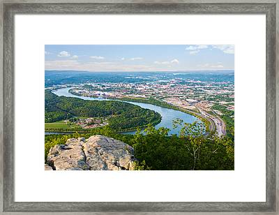 Chattanooga Spring Skyline Framed Print