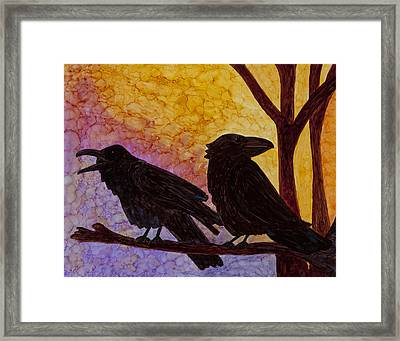 Chatter What Framed Print by Jennifer Fielder
