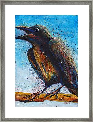 Chatty Cathy Framed Print by Cindy Johnston