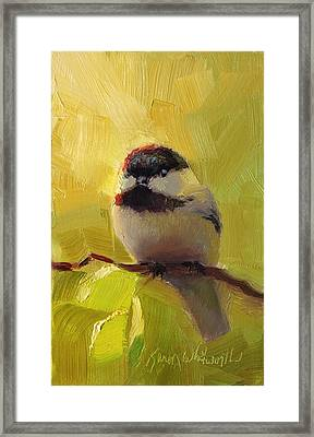 Chatty Chickadee - Cheeky Bird Framed Print