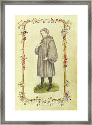 Chaucher The Author Framed Print by British Library