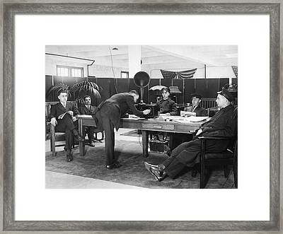 Chauffeurs Relax To Radio Framed Print